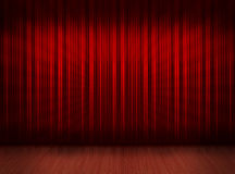 Free Red Curtain With Wooden Floor Royalty Free Stock Photography - 18771447