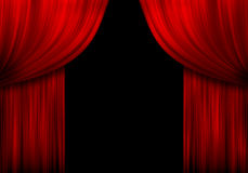 Red curtains Royalty Free Stock Image