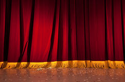 Red curtains. High resolution photo of red curtains Stock Image