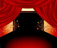 Red curtains background Stock Photo