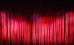 Red Curtains background Stock Images