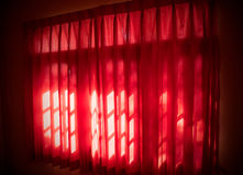 The red curtains Stock Images