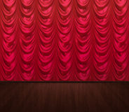 Red curtains empty stage Stock Photo