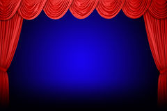 Free Red Curtains In Theater Stock Photos - 7998213