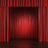 Red Curtains Stock Image