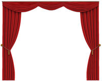 Red Curtains Isolated on White Background Royalty Free Stock Photo