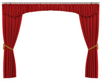 Red Curtains Isolated on White Background vector illustration