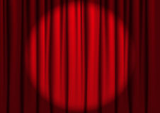 Red curtains with light Stock Photography