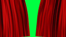 Red Curtains open, alpha channel. Transparent background, the ability to impose without cutting any footage stock illustration
