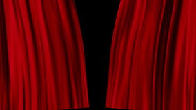 Red Curtains open stock video