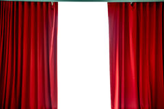 Red curtains. Open for show royalty free stock image