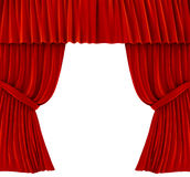 Red curtains over white Stock Photography