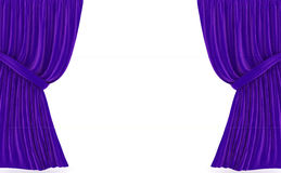 Red curtains over white Royalty Free Stock Images