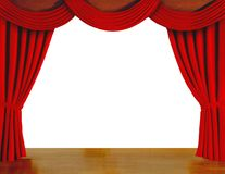 Red curtains over white Royalty Free Stock Image