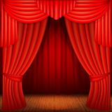 Red curtains Royalty Free Stock Photo