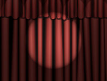 Red Curtains with Spotlight Royalty Free Stock Photos
