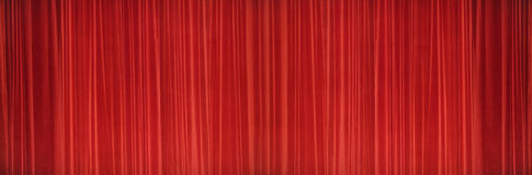 Red curtains Stage texture. Theater Image Concept. Stock Photos