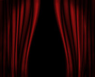 Red curtains on stage. Royalty Free Stock Photo