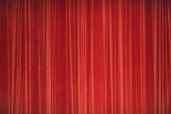 Red curtains Stage. Theater Image Concept. Royalty Free Stock Photos