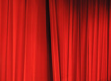 Red curtains Royalty Free Stock Images