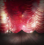Red curtains theater Stock Photo