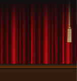 Red Curtains to Theater Stage. Illustration of the red curtains to theater stage Royalty Free Stock Photos