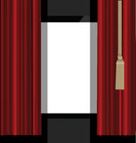 Red Curtains to Theater Stage. Illustration of the red curtains to theater stage Stock Image