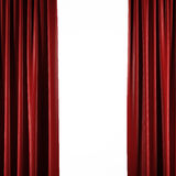 Red curtains on white Royalty Free Stock Photo