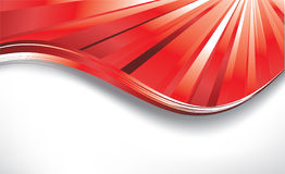 Red curve Royalty Free Stock Photography