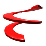 Red curve arrow up direction Royalty Free Stock Images