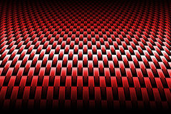 Red curve carbon fiber. On the black shadow. background and texture stock illustration