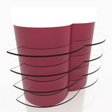 Red curve glass shelves Royalty Free Stock Image
