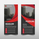 Red curve roll up business brochure flyer banner design , cover presentation abstract geometric background, modern publication Royalty Free Stock Images