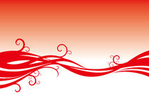 Red curve and vines  background Stock Images