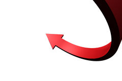 Red curved arrow Royalty Free Stock Images