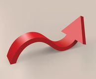 Red curved arrow Royalty Free Stock Photography