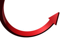 Red curved arrow Stock Photography