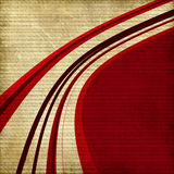 Red curved line background. A background design with curved red and brown lines Stock Photography