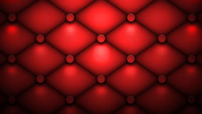 Red cushion. Background of red tufted cushion Royalty Free Stock Photo