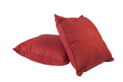 Red cushions stock images