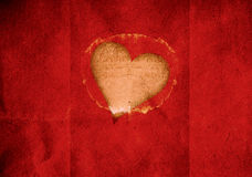 Red cut out grunge valentine heart Royalty Free Stock Image