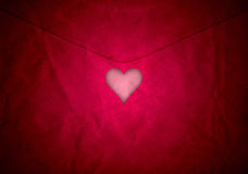 Red cut out valentine heart Royalty Free Stock Photos