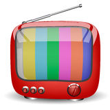 Red cute TV Stock Image