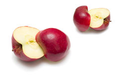 Red cuted apples Royalty Free Stock Photos