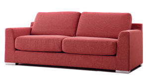 Red cutout couch stock image