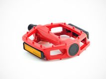 Red cycling pedal Stock Images