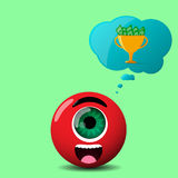 Red cyclop character Royalty Free Stock Photos
