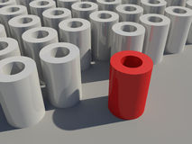 Red cylinder Stock Photo