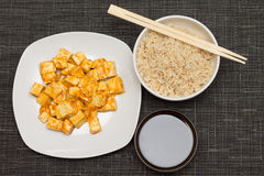 Red cyrry tofu Stock Photo