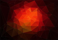 Red 2D Abstract and polygonal background Royalty Free Stock Photos